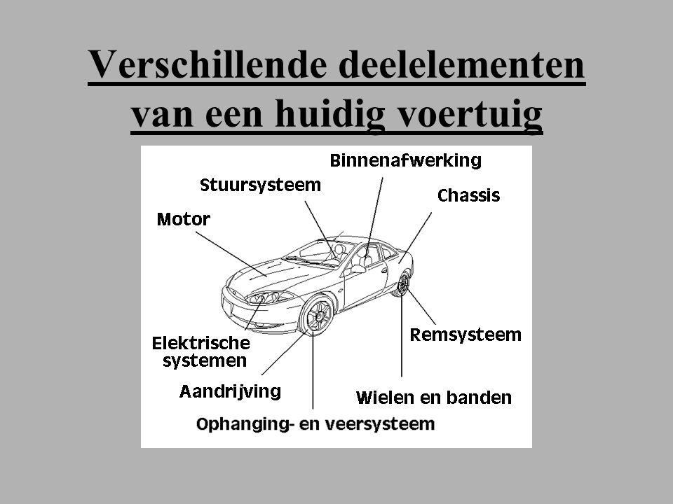 Verschillende deelelementen van een huidig voertuig