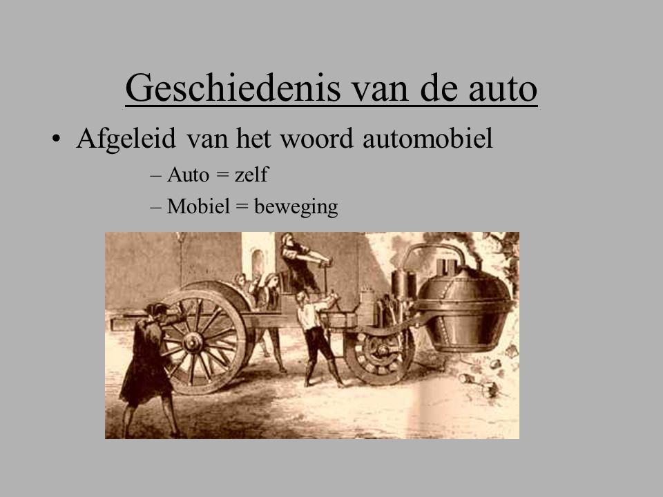 Geschiedenis van de auto