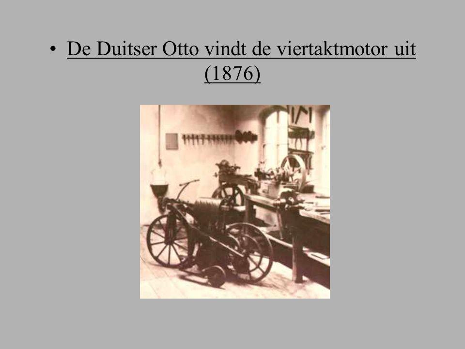 De Duitser Otto vindt de viertaktmotor uit (1876)