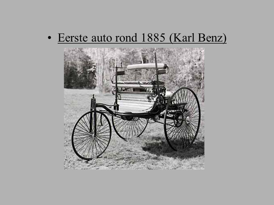 Eerste auto rond 1885 (Karl Benz)