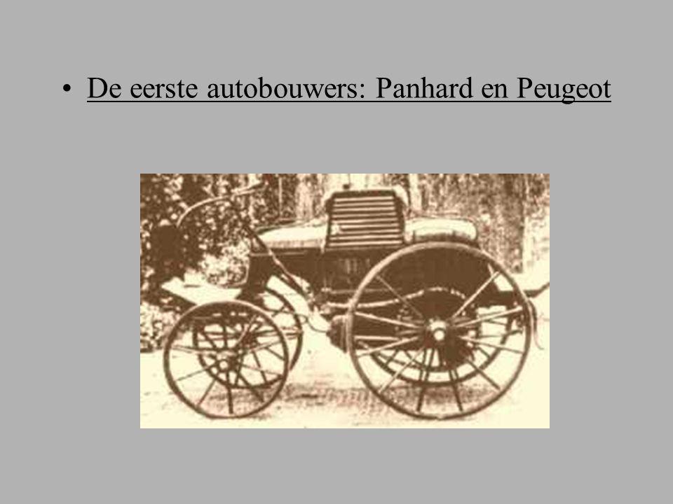 De eerste autobouwers: Panhard en Peugeot
