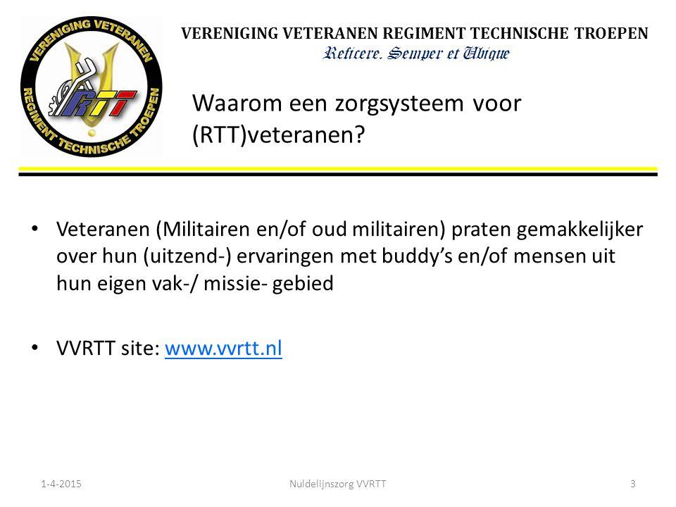 Waarom een zorgsysteem voor (RTT)veteranen