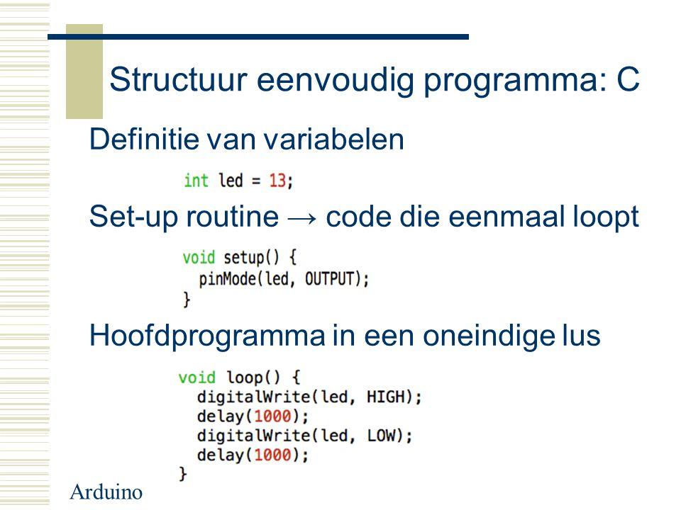 Structuur eenvoudig programma: C