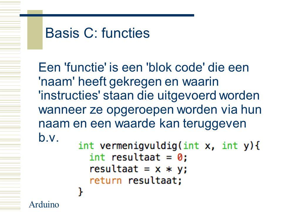 Basis C: functies