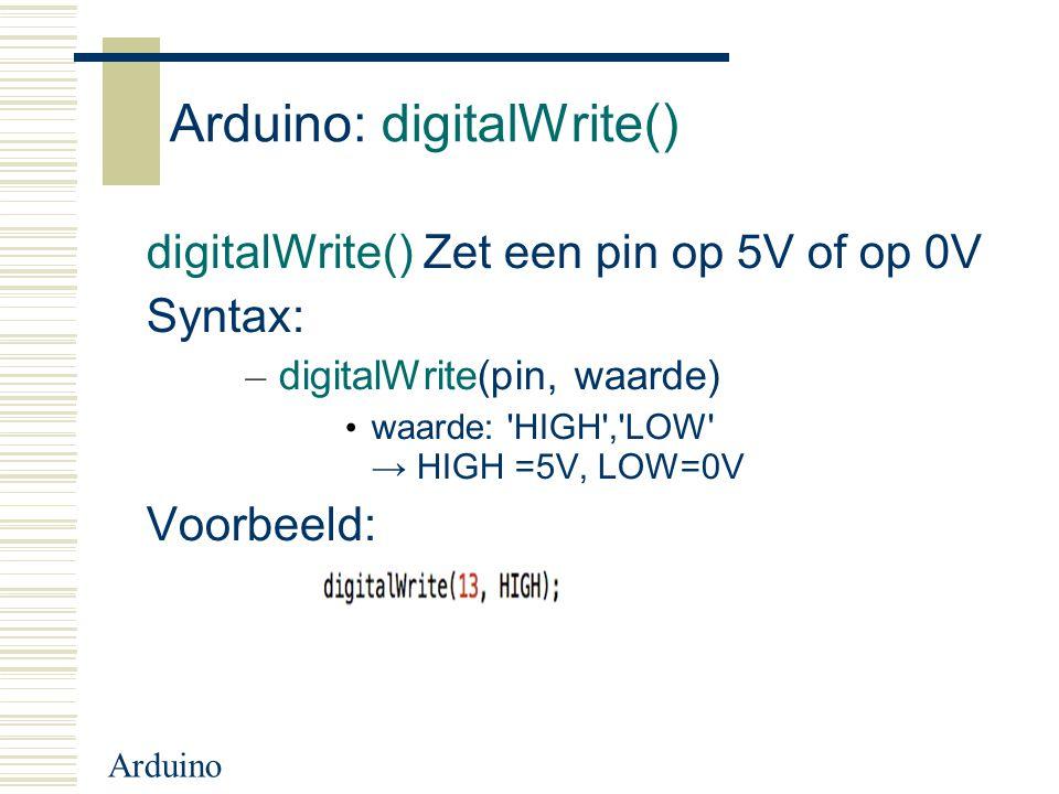 Arduino: digitalWrite()