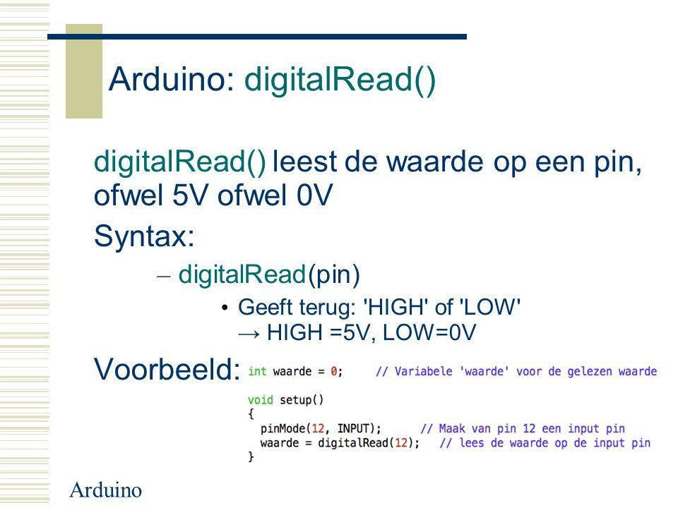 Arduino: digitalRead()