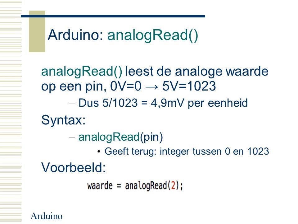 Arduino: analogRead()