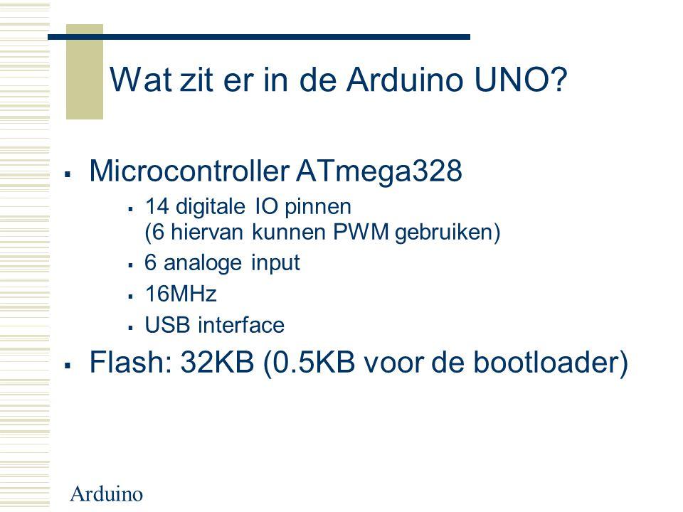 Wat zit er in de Arduino UNO