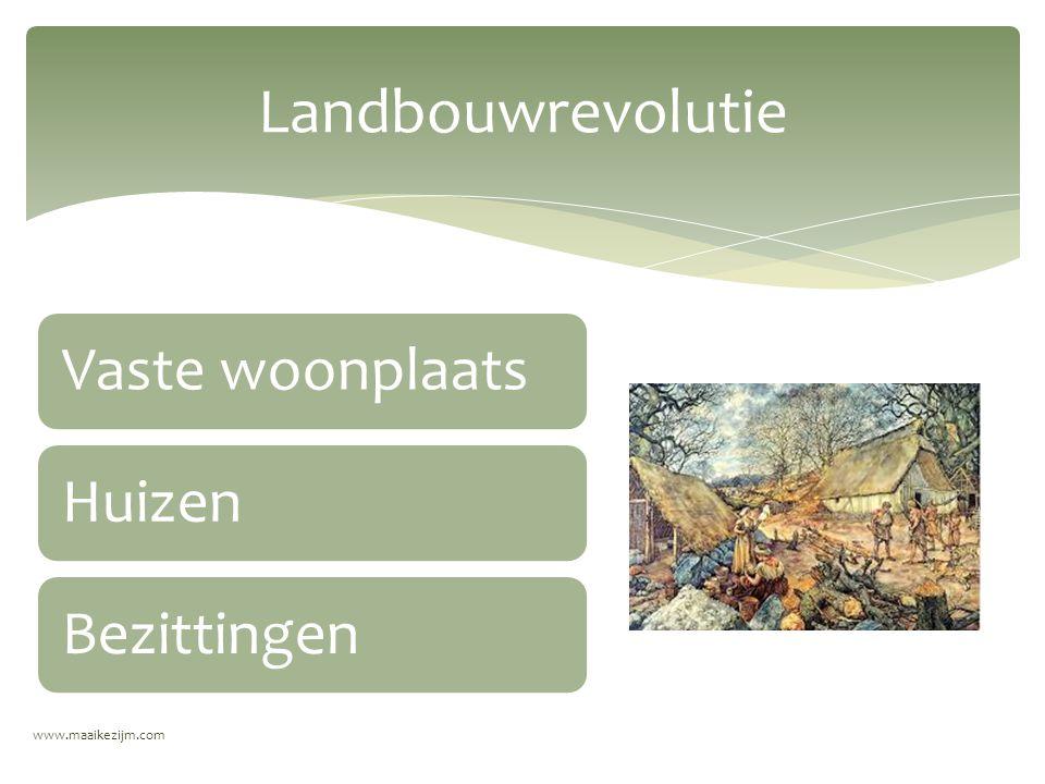 Landbouwrevolutie Vaste woonplaats Huizen Bezittingen