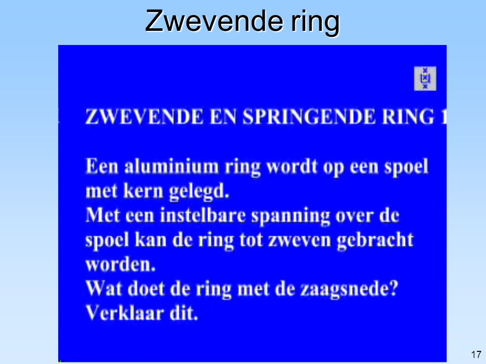 Zwevende ring