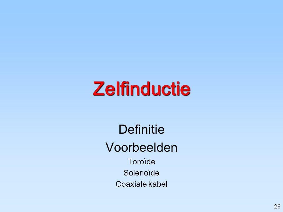 Definitie Voorbeelden Toroïde Solenoïde Coaxiale kabel