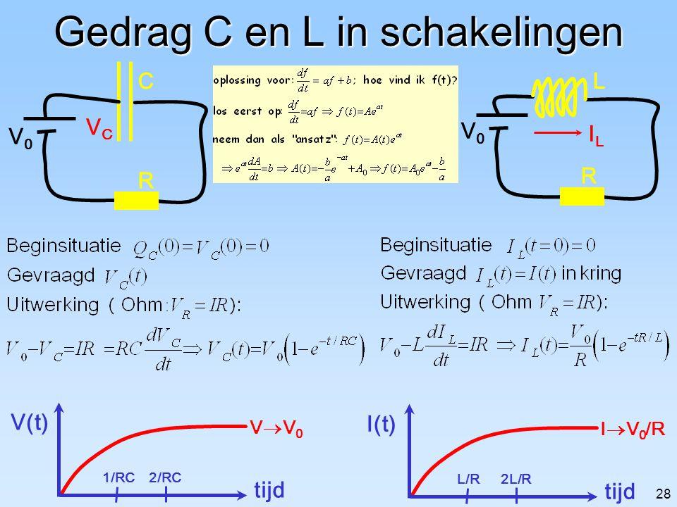 Gedrag C en L in schakelingen