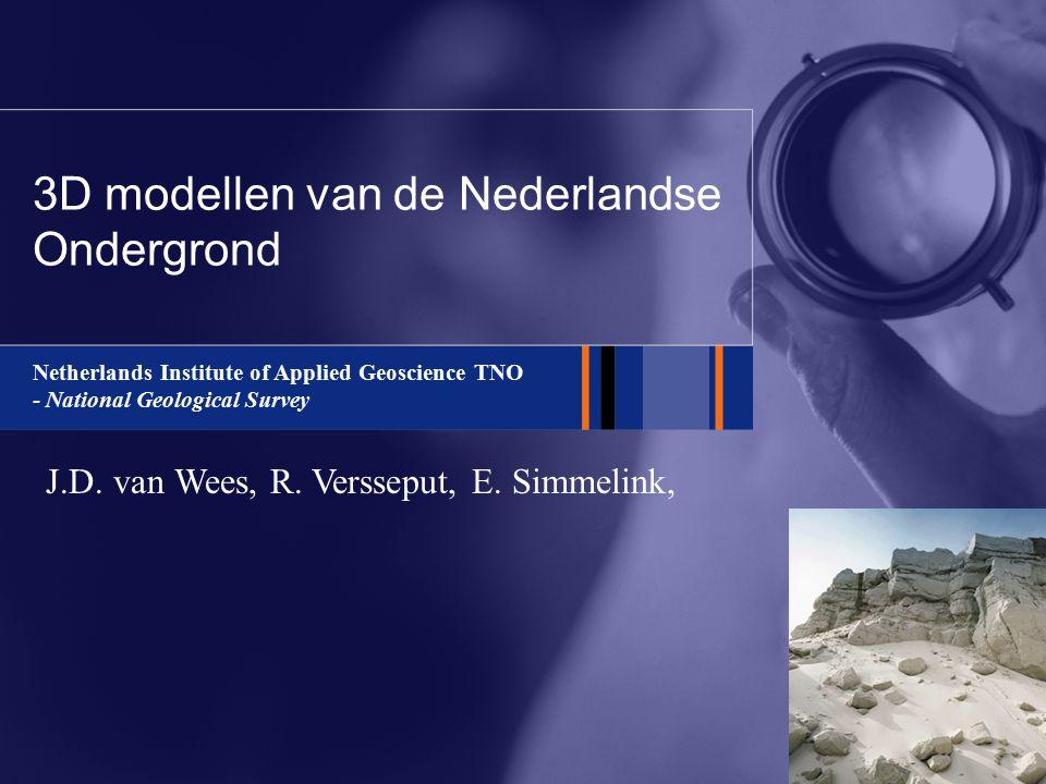 3D modellen van de Nederlandse Ondergrond