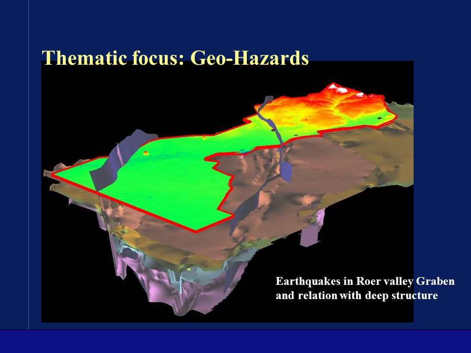 Thematic focus: Geo-Hazards
