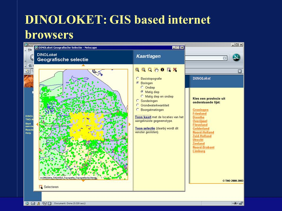 DINOLOKET: GIS based internet browsers