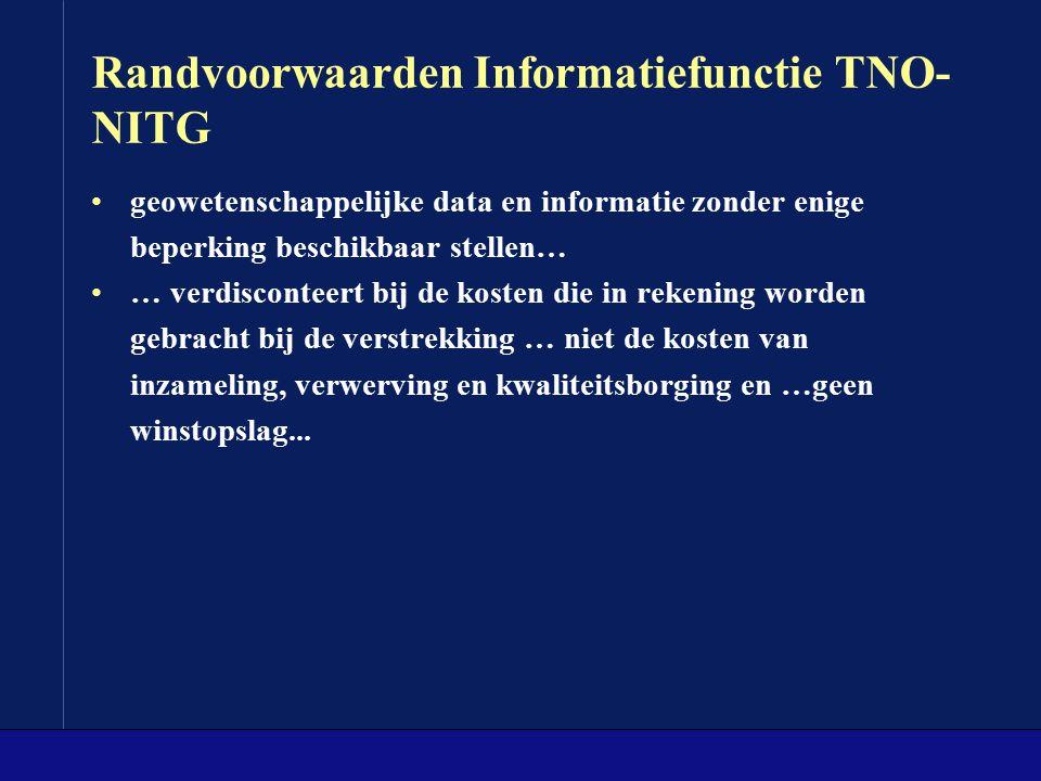 Randvoorwaarden Informatiefunctie TNO-NITG