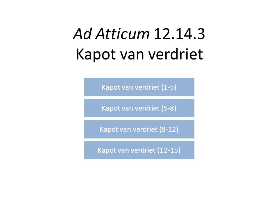 Ad Atticum 12.14.3 Kapot van verdriet