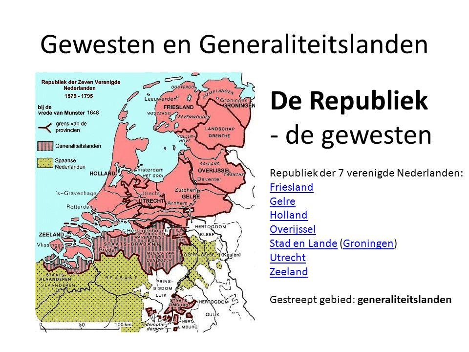 Gewesten en Generaliteitslanden