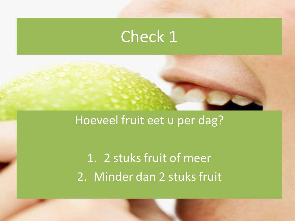 Hoeveel fruit eet u per dag