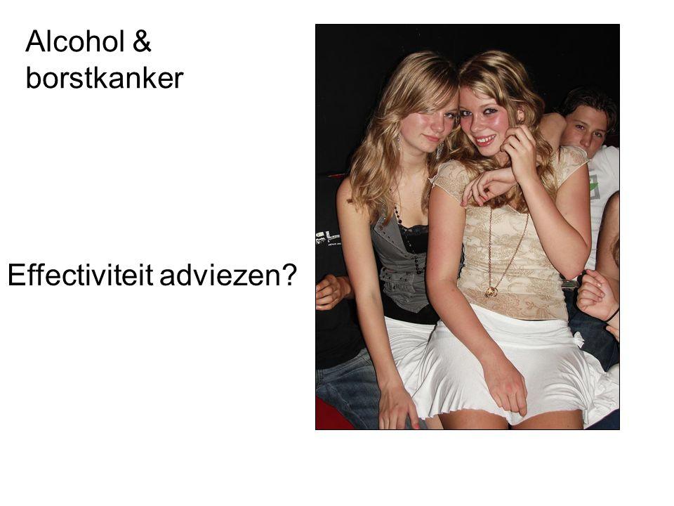 Alcohol & borstkanker Effectiviteit adviezen