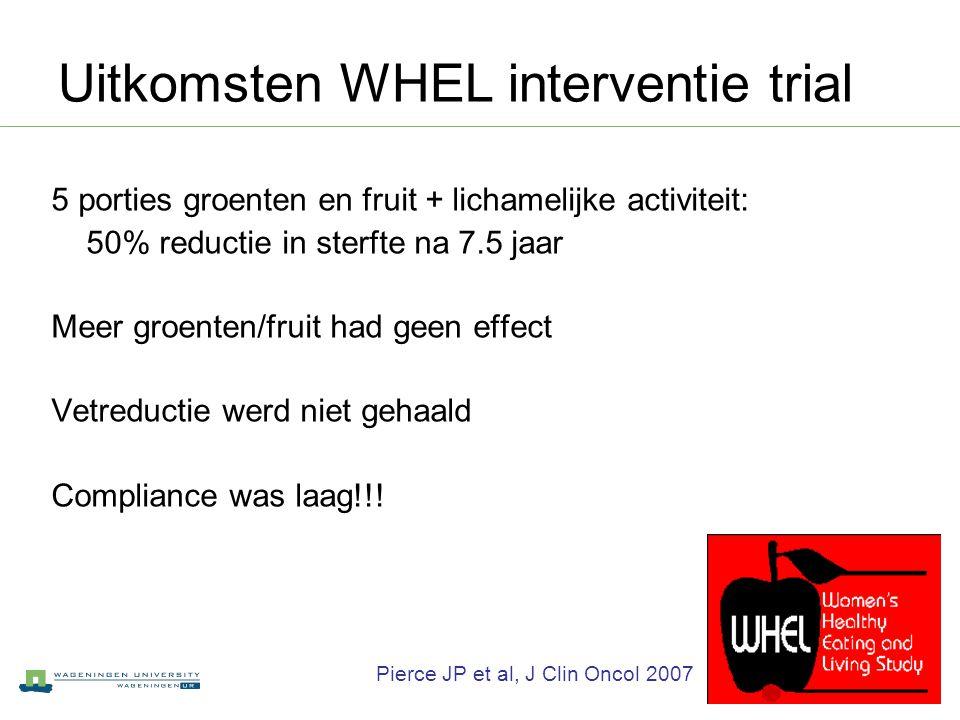 Uitkomsten WHEL interventie trial