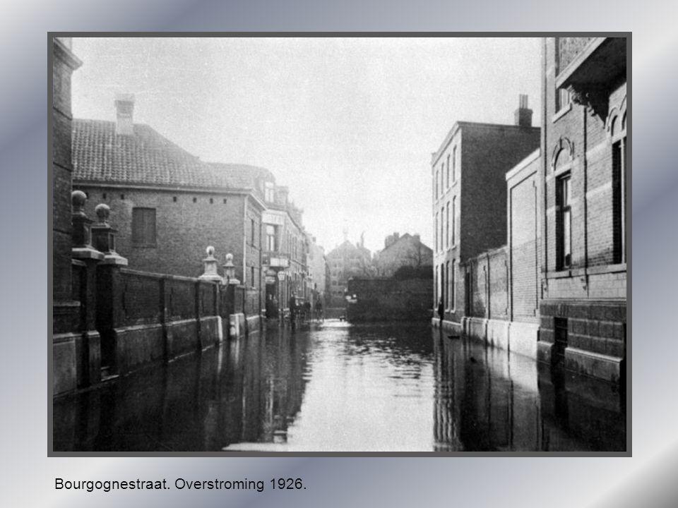 Bourgognestraat. Overstroming 1926.