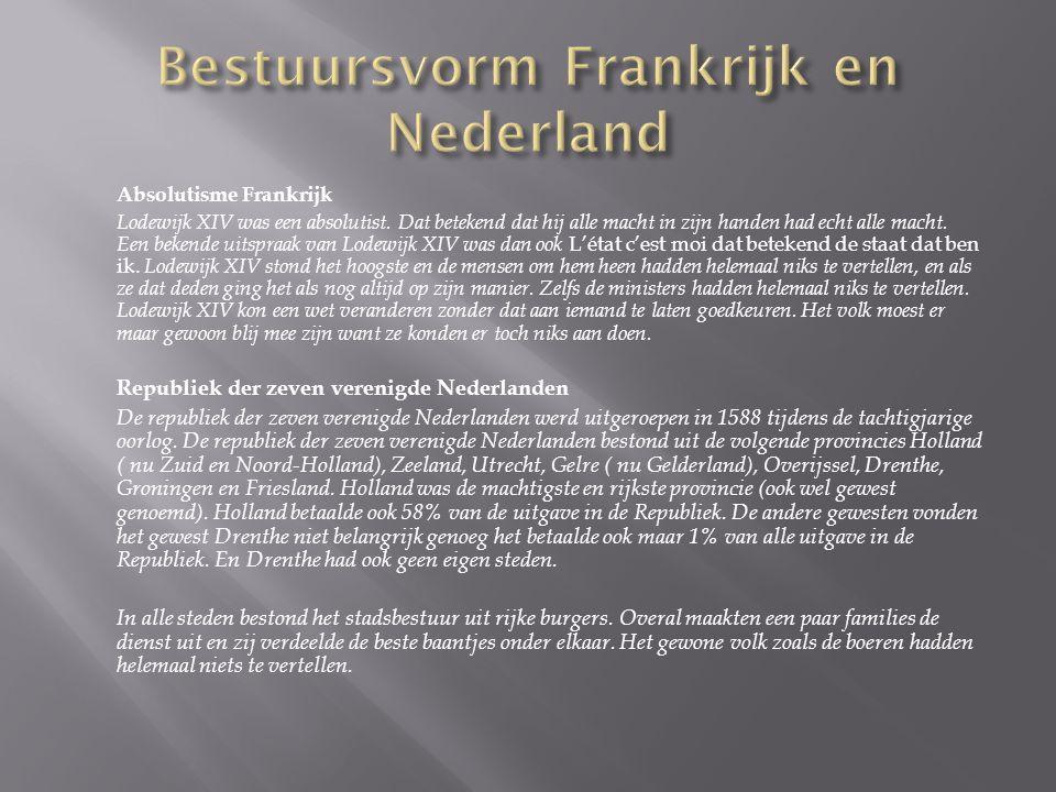 Bestuursvorm Frankrijk en Nederland