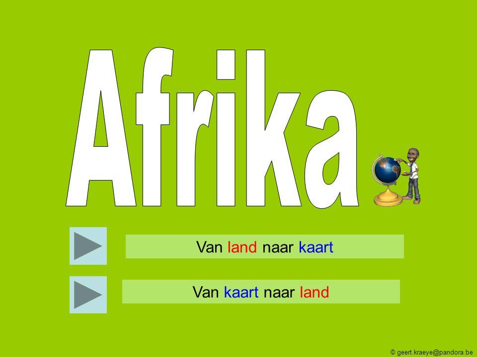 Afrika Van land naar kaart Van kaart naar land
