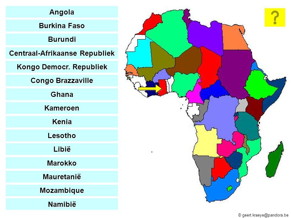 Centraal-Afrikaanse Republiek Kongo Democr. Republiek