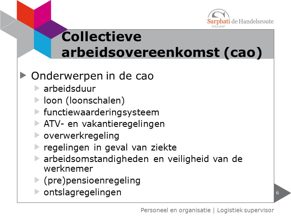 Collectieve arbeidsovereenkomst (cao)