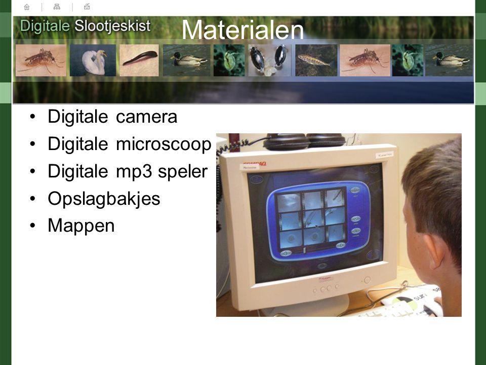 Materialen Digitale camera Digitale microscoop Digitale mp3 speler