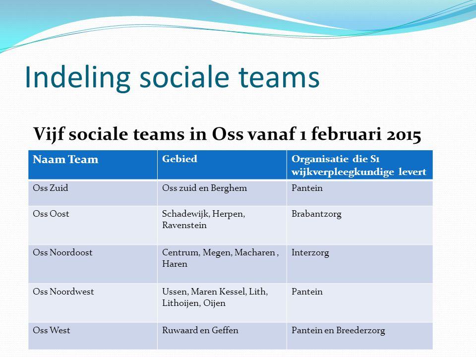 Indeling sociale teams