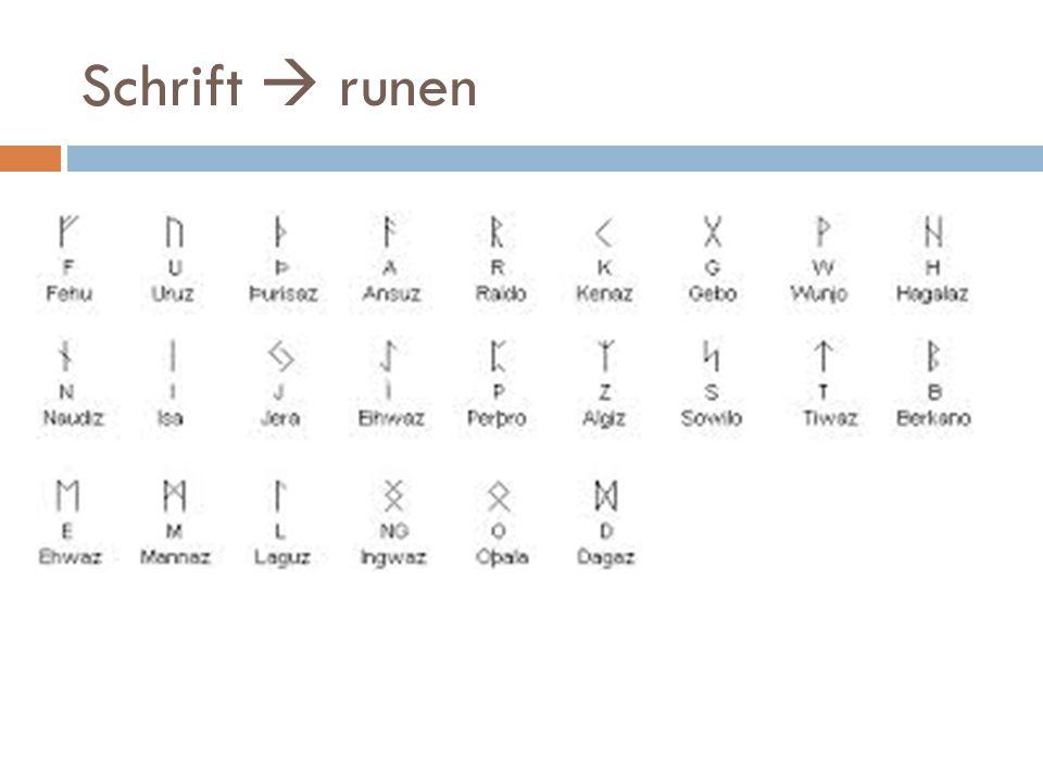 Schrift  runen
