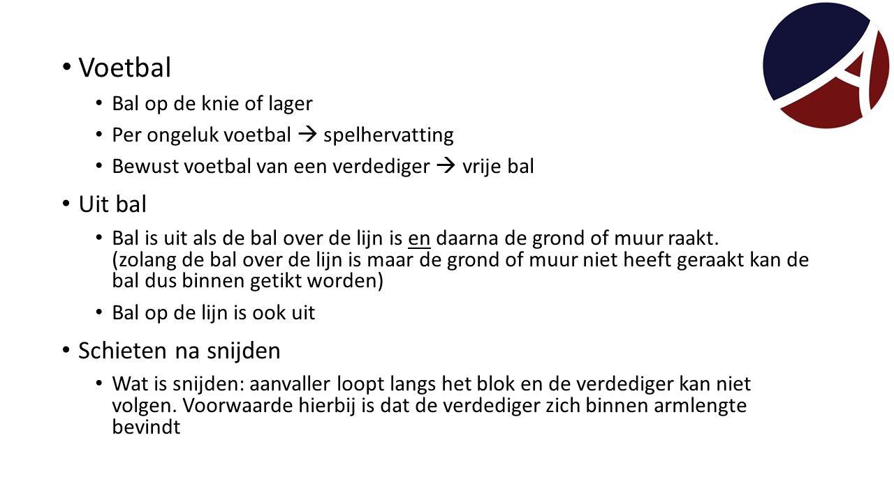 Voetbal Uit bal Schieten na snijden Bal op de knie of lager