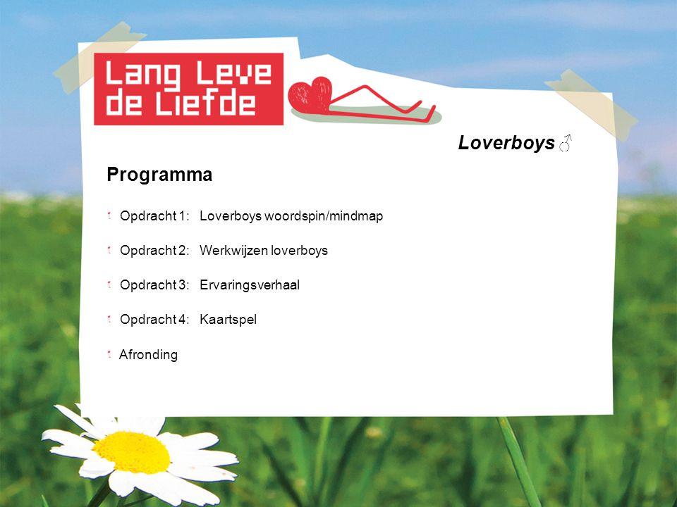 Loverboys ♂ Programma Opdracht 1: Loverboys woordspin/mindmap