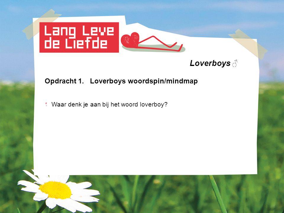 Loverboys ♂ Opdracht 1. Loverboys woordspin/mindmap