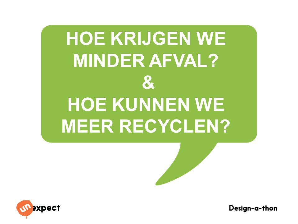 hoe krijgen we Minder afval & Hoe kunnen we meer recyclen