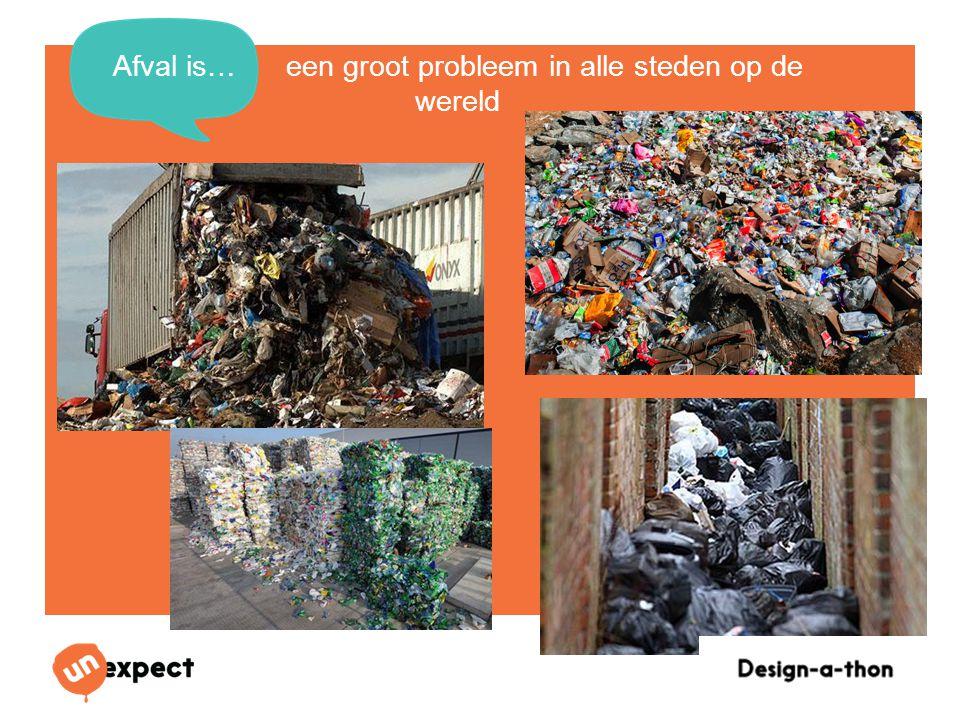 Afval is… een groot probleem in alle steden op de wereld