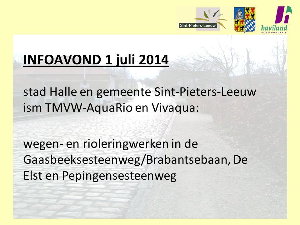 stad Halle en gemeente Sint-Pieters-Leeuw ism TMVW-AquaRio en Vivaqua: