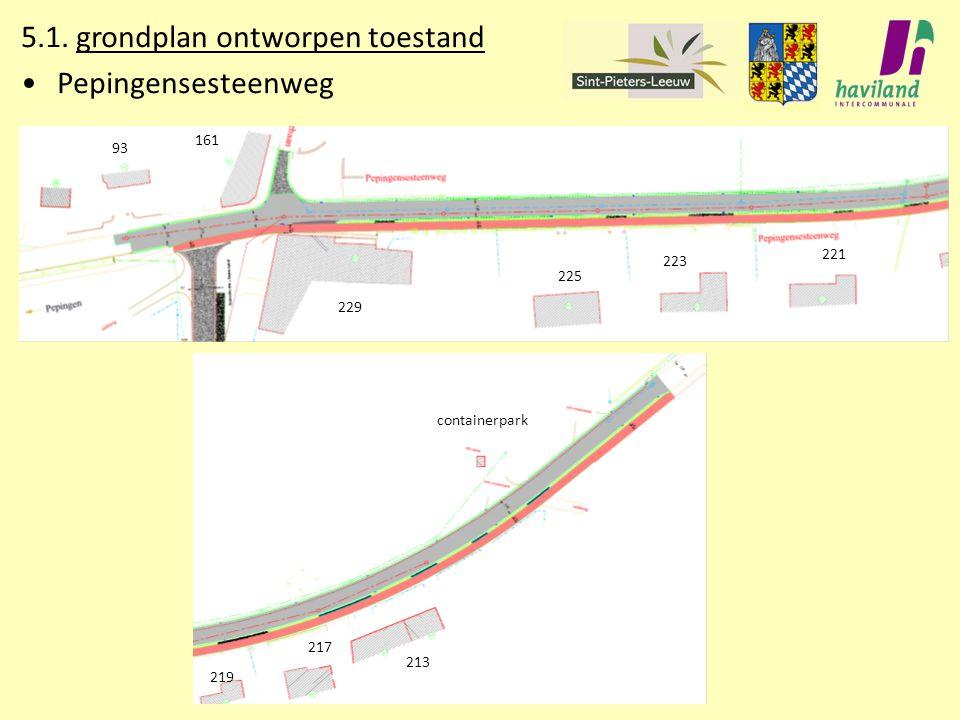 5.1. grondplan ontworpen toestand Pepingensesteenweg