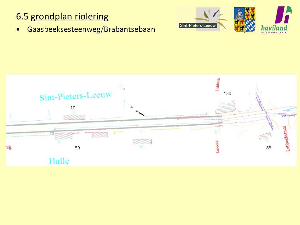 6.5 grondplan riolering Gaasbeeksesteenweg/Brabantsebaan 130 10 59 83