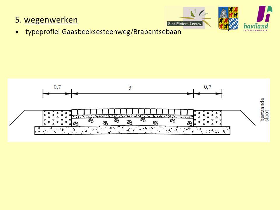 5. wegenwerken typeprofiel Gaasbeeksesteenweg/Brabantsebaan