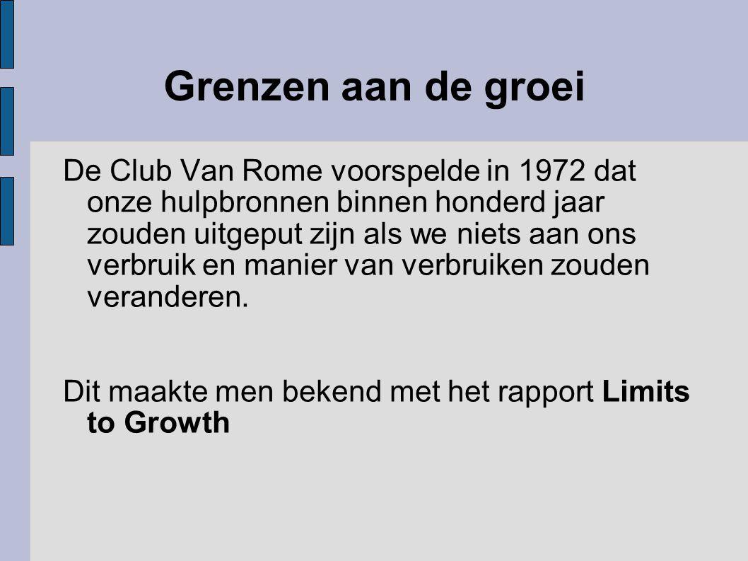 Grenzen aan de groei