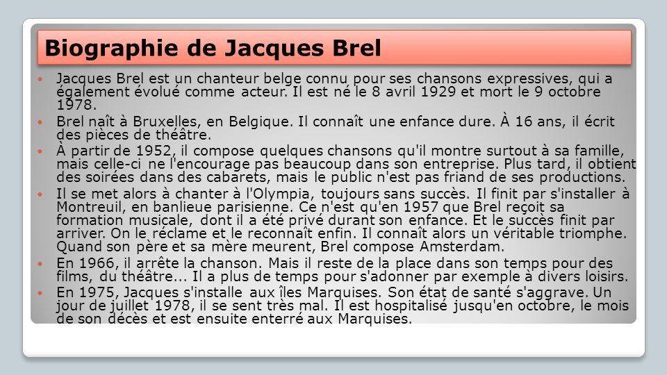 Biographie de Jacques Brel