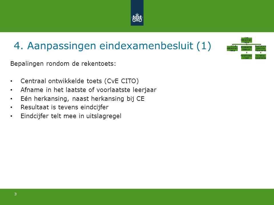 4. Aanpassingen eindexamenbesluit (1)