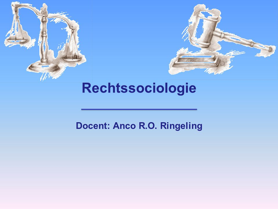 Docent: Anco R.O. Ringeling