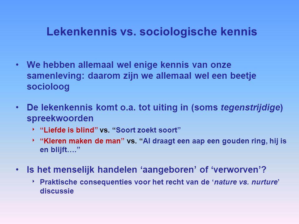 Lekenkennis vs. sociologische kennis