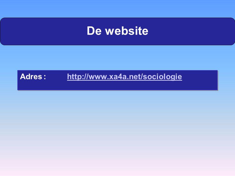 De website Adres : http://www.xa4a.net/sociologie