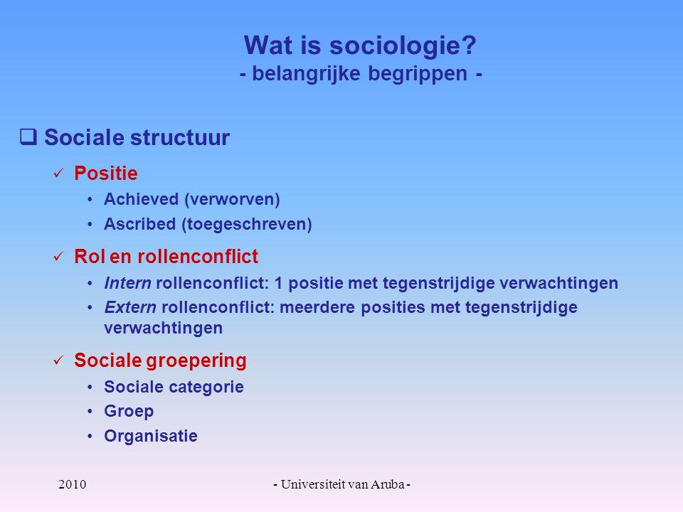 Wat is sociologie - belangrijke begrippen -