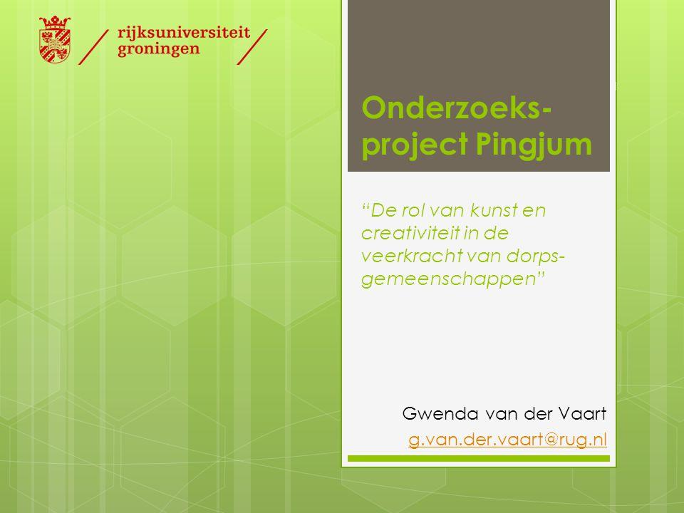 Onderzoeks-project Pingjum De rol van kunst en creativiteit in de veerkracht van dorps-gemeenschappen